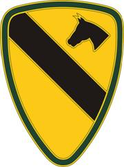 1st Cavalry Division Combat Service ID Badges